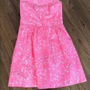 Lilly Pulitzer strapless dress sz m